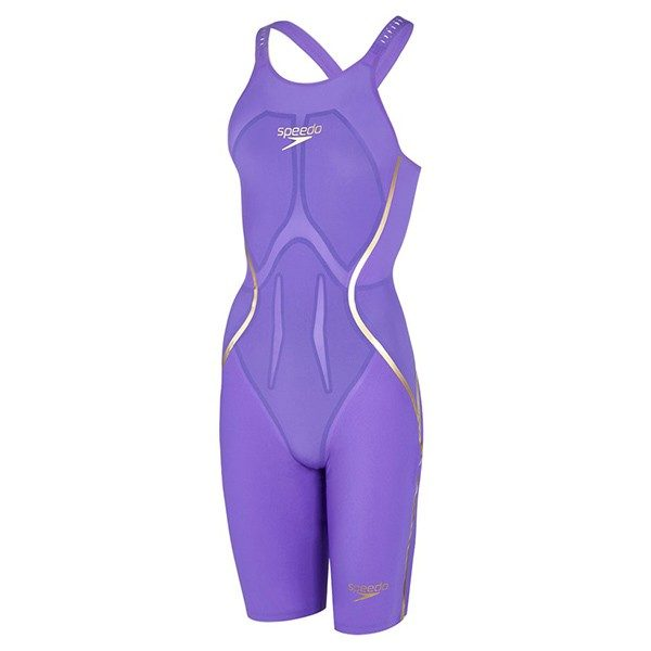 SPEEDO LZRX PURPLE GOLD