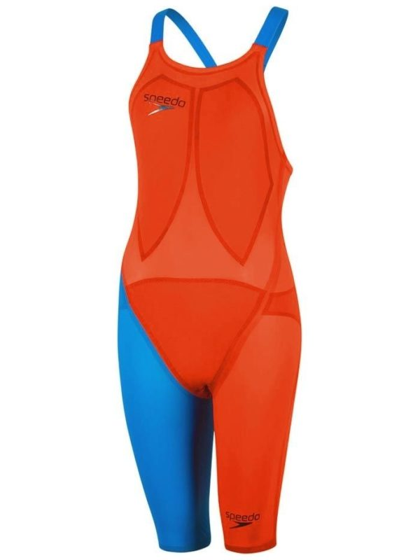 speedo lzr orange blue
